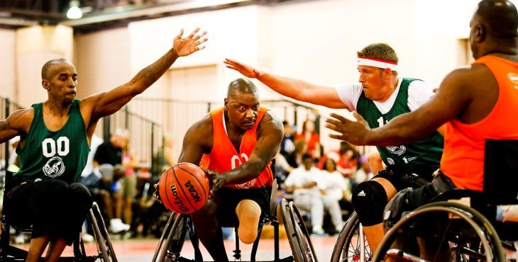 IMAGE: Wheelchair Games basket ball game