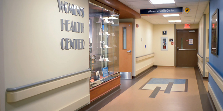 The Veteran Women's Health Center entrance located at the Pittsburgh, Pennsylvania VA.