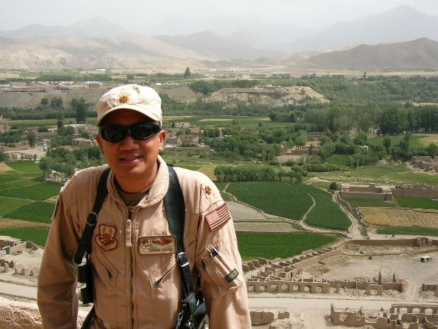 Air Force Major Manuel Martin in Afghanistan in 2004 during Operation Enduring Freedom