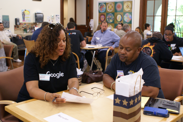 Google recruiters work with CWT Veterans