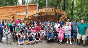 Veterans at the 3rd Annual Community Reintegration Outing at the Dew Haven Maine Zoo and Rescue