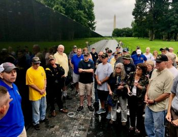 Picture of USB at Vietnam Veterans Memorial Wall