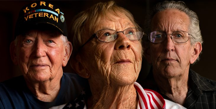 A combined photo of three Vietnam Navy Veterans.