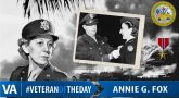 Annie Fox - Veteran of the Day