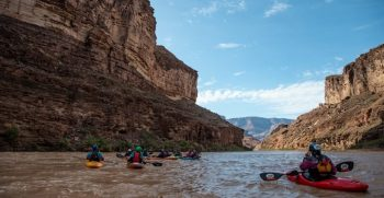 IMAGE: Blinded kayakers tackle the river