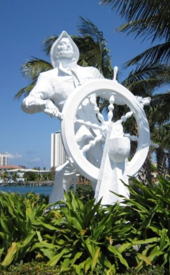 Photograph of The Mariner statue in Riviera Beach, Florida