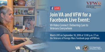 IMAGE: FB live event on VA Video Connect