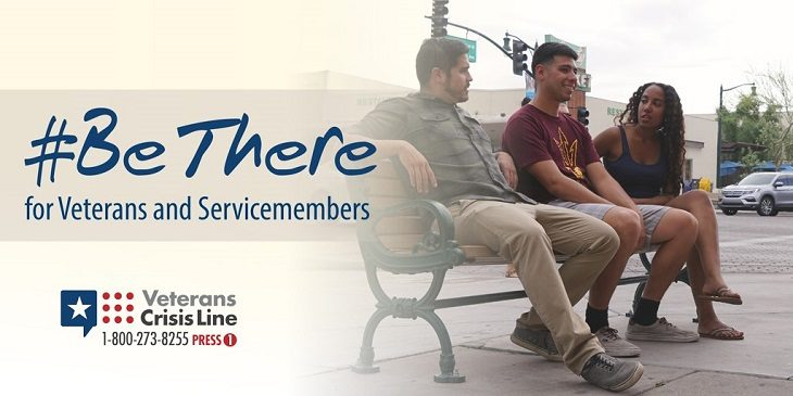 IMAGE:  #BeThere for service members and Veterans graphic