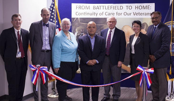 IMAGE: Connected Care, VISN 10 and Cincinnati VAMC leaders take part in the VISN 10 Tele-ICU ribbon cutting ceremony at the Cincinnati VAMC.