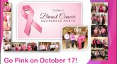 Dozens of employees, interns and volunteers from VA Texas Valley Coastal Bend Health Care System (VCB) wore pink on October 17, 2018, in observance of Breast Cancer Awareness Month.