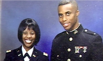 CPT Melton (left) served two tours in Iraq, one as a Platoon Leader and one as a Network Engineer.