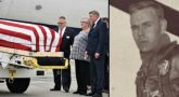 IMAGE: Colonel Fredric Mellor's casket landing in Rhode Island