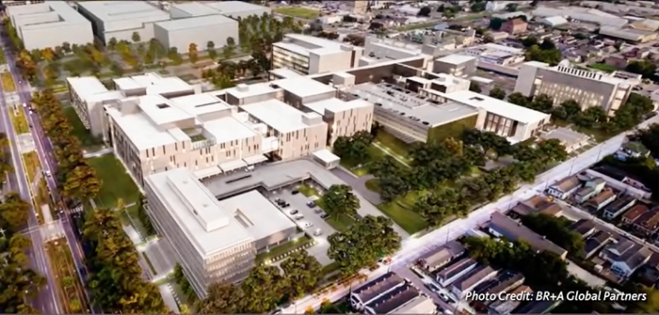IMAGE: Arial view of New Orleans VAMC