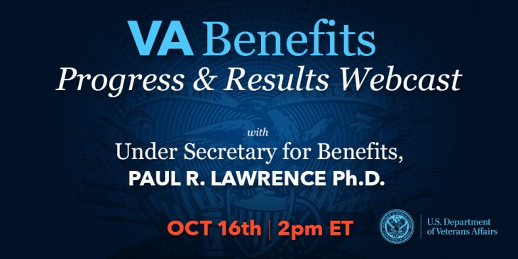 Announcement for VBA stakeholder webcast hosted by VA Undersecretary