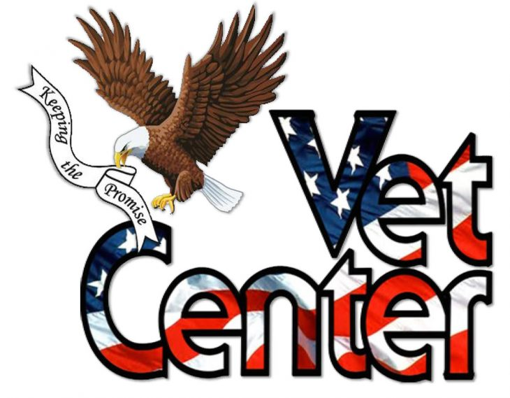 Vet Center logo with drop shadow effect added for better contrast with white background. (U.S. Department of Veterans Affairs graphic reformatted by Luis H. Loza Gutierrez)