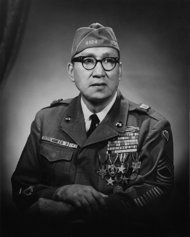 Details of the life and heroic actions of Medal Award recipient, Army Master Sgt., Woodrow Wilson Keeble, was shared with the audience during a special event held in observance of National Native American Heritage Month, which took place at the VA outpatient clinic in Harlingen, Texas, on November 16, 2018. (Image courtesy of U.S. Army)
