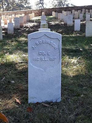 IMAGE: Robinson head stone at Danville National Cemetery
