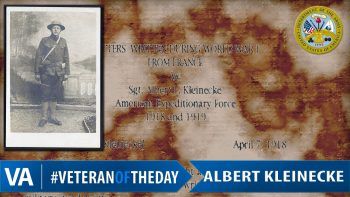 Albert Kleinecke - Veteran of the Day