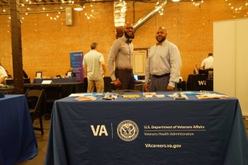 image of VA careers at hiring event