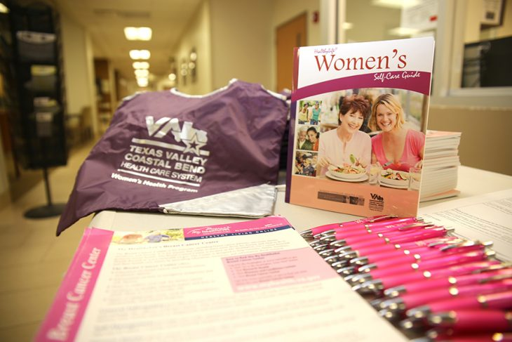 Items like the Women's Self-Care Guide pictured here were among the educational materials and items given inside free bags of goodies to guests during Women Veterans Town Hall.
