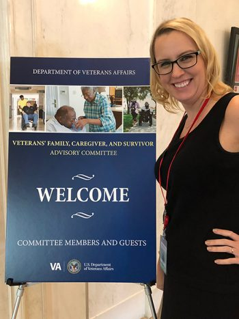 Melissa Comeau is a member of the Federal Advisory Committee for Veterans Families, Caregivers and Survivors.