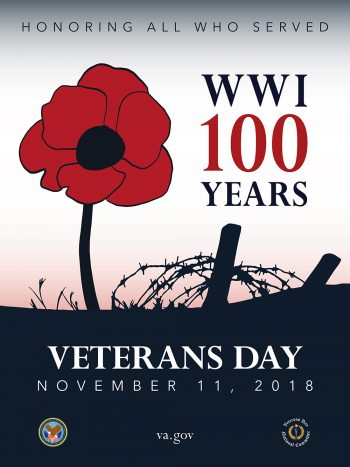 Poster Veterans Day - WW1 - 100 Years