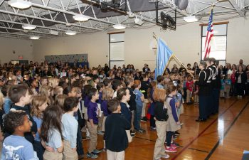 image of Student at assembly