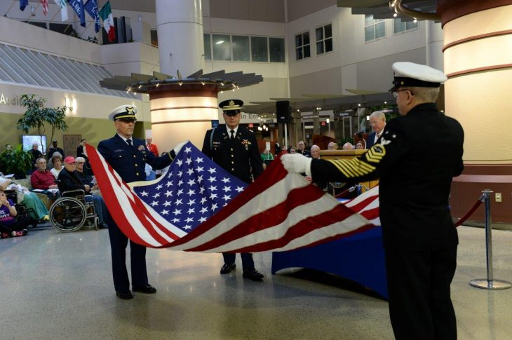 US Navy - US Flag folding ceremony
