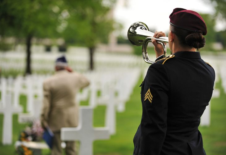 US Soldier Playing Taps