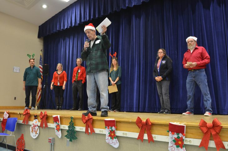 """Jeff """"Doc"""" Dentice, who served as an Army medic in Vietnam, opens his """"Christmas With the Vets"""" show."""