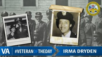 Irma Dryden - Veteran of the Day