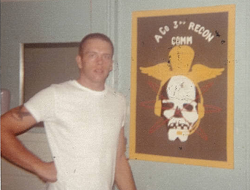 IMAGE Richard Shutts when he was with 3rd Recon