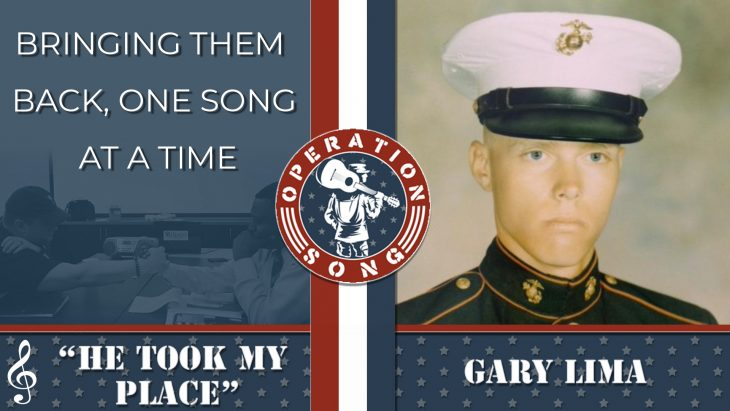 "Operation Song graphic for the song, ""He Took My Place,"" by Gary Lima."