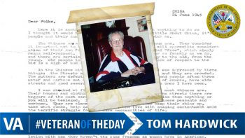 Tom Hardwick - Veteran of the Day