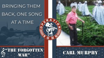 """Operation Song graphic for the song, """"The Forgotten War,"""" by Carl Murphy."""