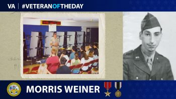 Morris Weiner - Veteran of the Day