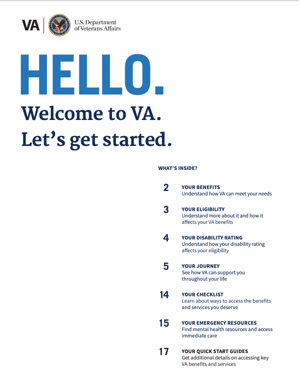 download your va welcome kit in black and white