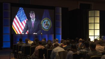 Secretary Wilkie live streams speech to SVA conference