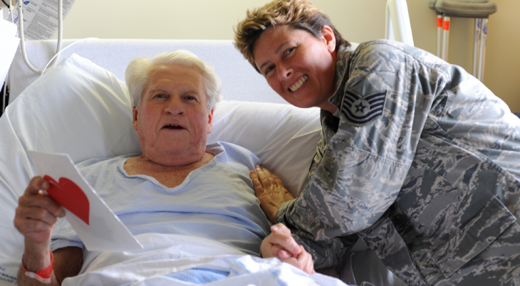 Elderly Vet with soldier