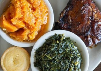 IMAGE: Traditional soul food such as seasoned greens