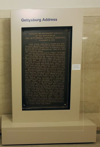 IMAGE: Lincoln's Gettysburg Address.