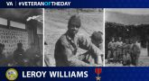 Leroy Williams - Veteran of the Day