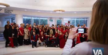 IMAGE: VA employees wear red
