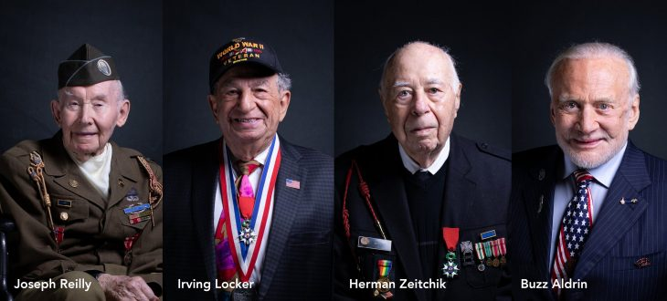 Portraits of Veterans attending State of the Union as special guests