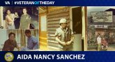 #VeteranoftheDay graphic of Aida Sanchez