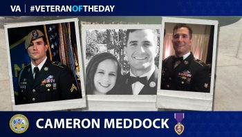 Veteran of the Day graphic for Cameron Meddock