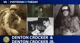 Veteran of the Day graphic for Denton Crocker and Denton Crocker Jr.