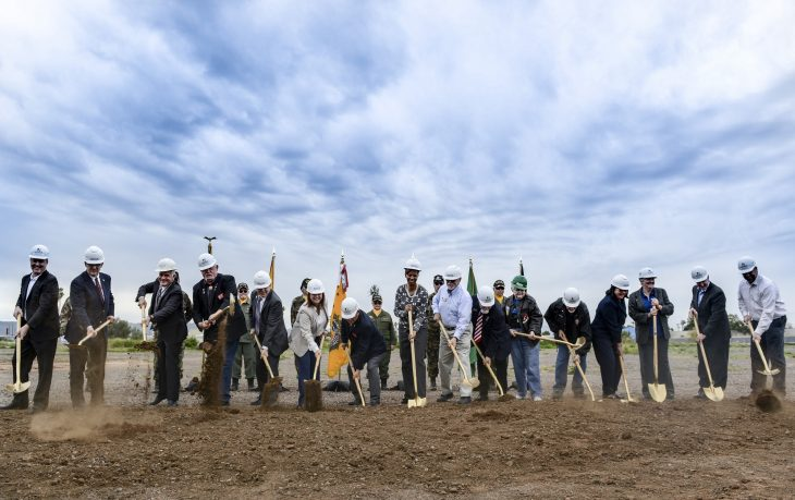 IMAGE of VA leaders and VSOs breaking ground on a new outpatient clinic