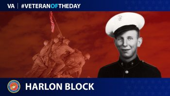 #VeteranoftheDay graphic of Harlon Block