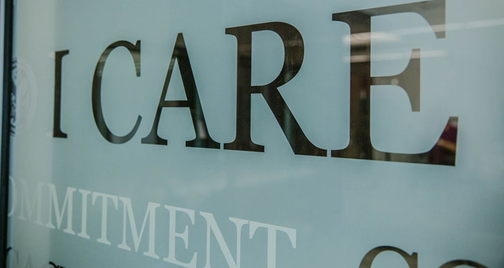 I CARE plaque